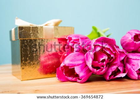 Gift with bouquet #369654872