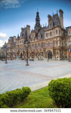 France. Paris City Hall (Hotel de Ville) #369847511