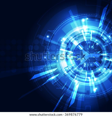 Abstract futuristic digital technology background. Illustration Vector #369876779