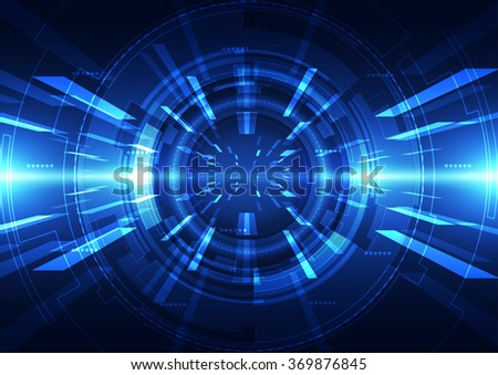 Abstract futuristic digital technology background. Illustration Vector #369876845