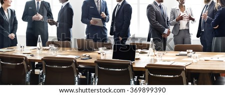Business People Meeting Discussion Working Concept Royalty-Free Stock Photo #369899390