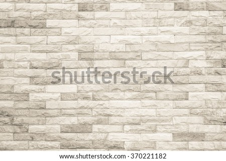 Black and white brick wall texture background / Wall texture background flooring interior rock stone old pattern clean concrete grid uneven bricks design stack. #370221182