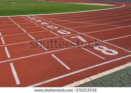 Runing track no.1-8 #370253558