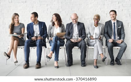 Human Resources Interview Recruitment Job Concept Royalty-Free Stock Photo #370416890