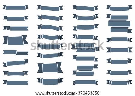 Ribbons set, vector eps10 illustration #370453850