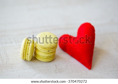 Colorful Macaroons With Lovely Decoration. #370470272
