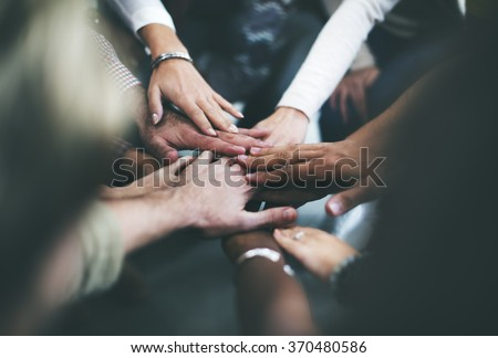Teamwork Join Hands Support Together Concept #370480586