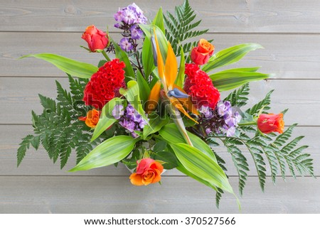 spring bouquet of colorful flowers. color image. bright background. #370527566