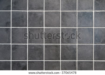 natural gray stone square tiles with white filling #37065478