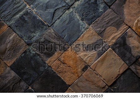 Background of black and brown stone tiles texture #370706069