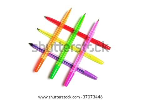 Ballpoint Pens on White Background #37073446