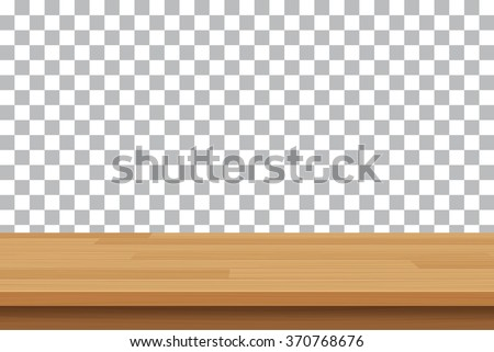 vector wood table top on isolated background Royalty-Free Stock Photo #370768676