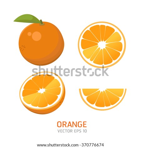 Vector oranges set #370776674