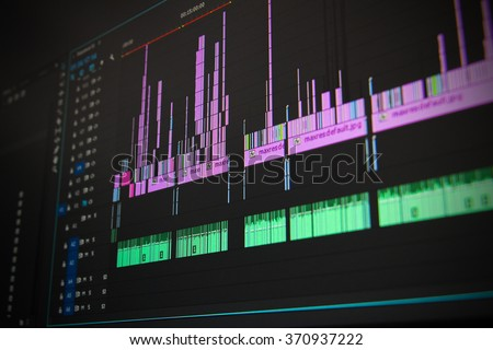 Editing time line Royalty-Free Stock Photo #370937222