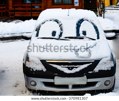 Car with eyes and big smile