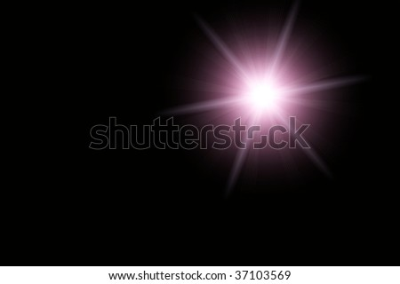 Six pointed star isolated on black background. #37103569