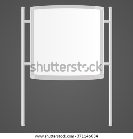Realistic squared white 3d citylight. Ad lightbox. Mock Up Template For Your Design. Vector illustration #371146034