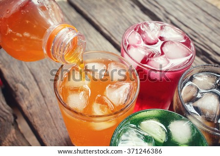 Soft drinks Royalty-Free Stock Photo #371246386