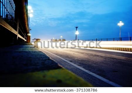 time lapse photography and railroad bridge