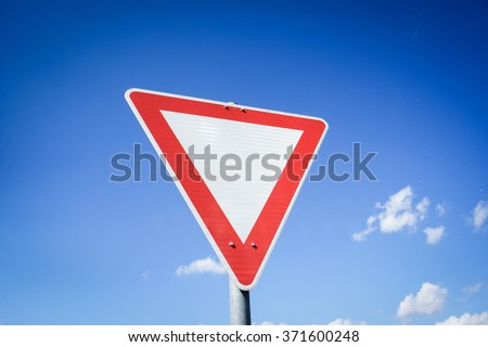 give way traffic sign, yield