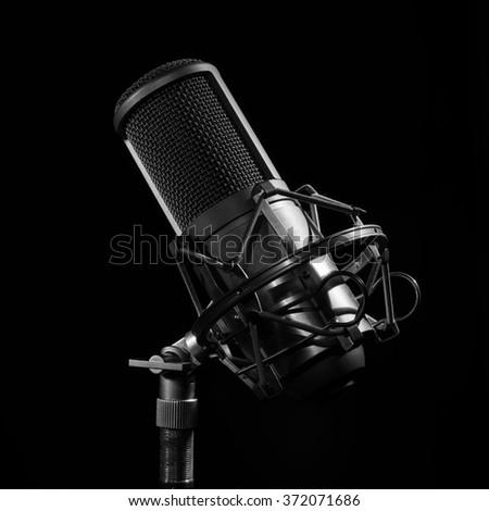 Professional Studio Microphone.  light brush
