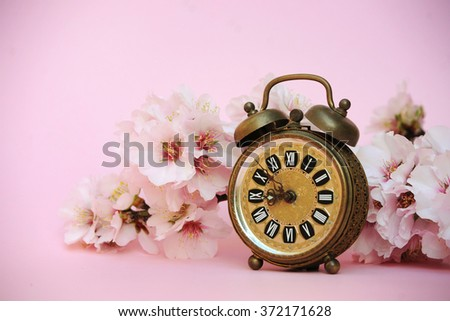 Spring time with almond flowers