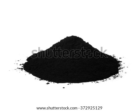 Black colour toner for printer isolated on white background #372925129