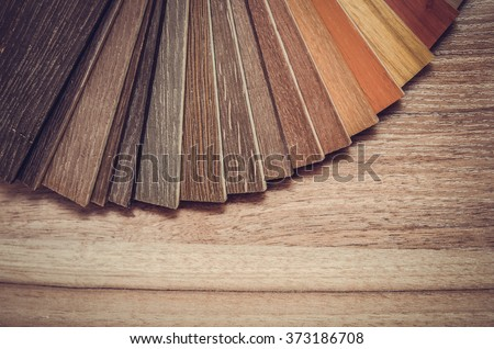 Small color sample boards. toned image macro Royalty-Free Stock Photo #373186708