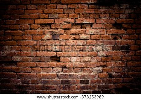 Old brick wall. Retro background. #373253989