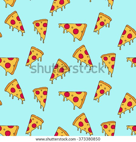 Pizza slice seamless pattern
