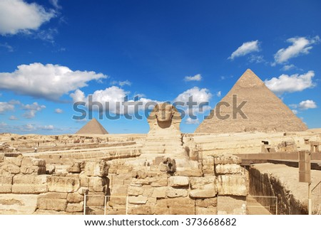 Sphinx Giza, Egypt. #373668682