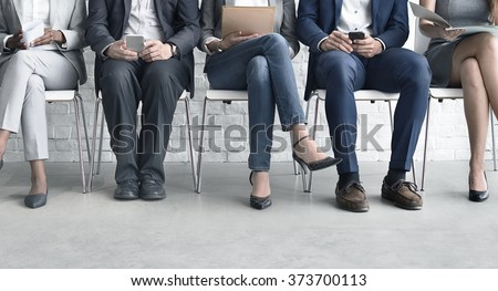 Human Resources Interview Recruitment Job Concept Royalty-Free Stock Photo #373700113