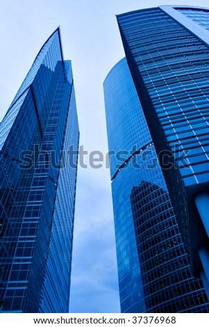 futuristic building skyscrapers of business center #37376968