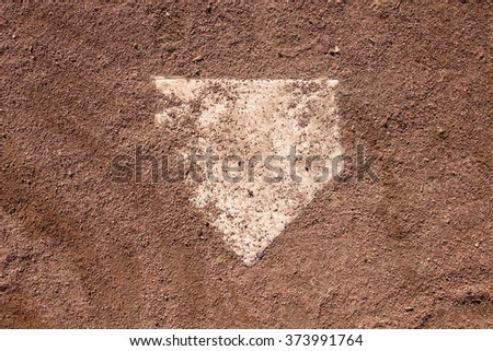 Baseball Homeplate  Royalty-Free Stock Photo #373991764