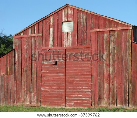 Quaint old wooden barn, northern California. #37399762