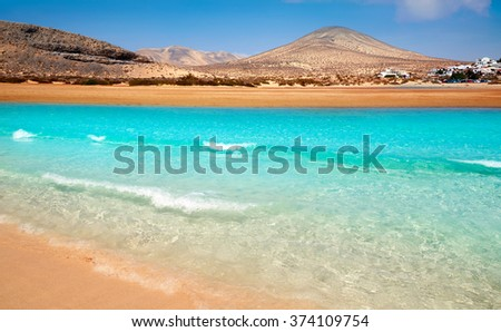 Jandia beach Risco el Paso Fuerteventura at Canary Islands of Spain Royalty-Free Stock Photo #374109754