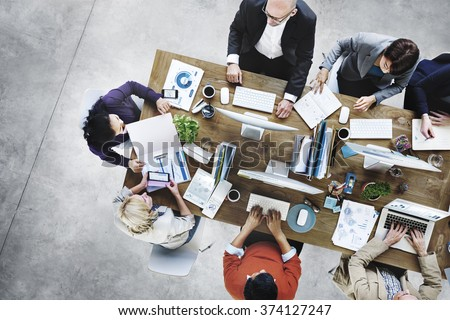 Group of Business People Working in the Office Concept Royalty-Free Stock Photo #374127247