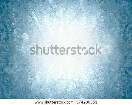 Ice on a window, background Royalty-Free Stock Photo #374200351