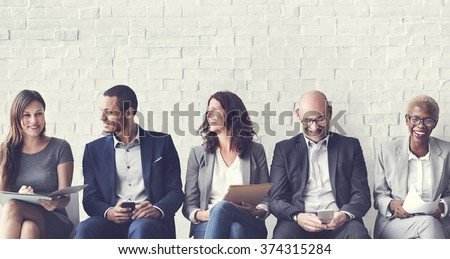 Human Resources Interview Recruitment Job Concept Royalty-Free Stock Photo #374315284
