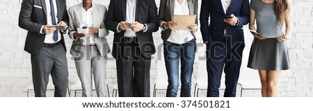 Human Resources Interview Recruitment Job Concept Royalty-Free Stock Photo #374501821