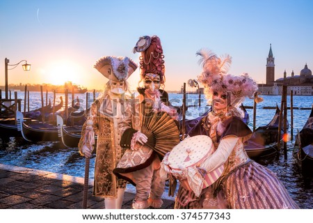 Famous carnival in Venice, Italy #374577343
