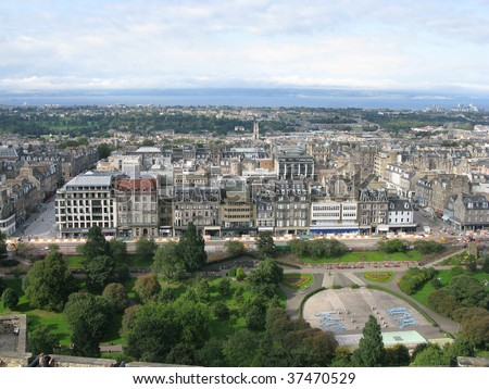 Aerial view of Edinburgh #37470529