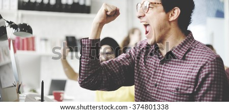 People Celebration Success Working Successful Concept Royalty-Free Stock Photo #374801338