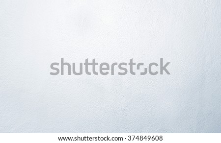Light blue coating on the fine cement wall #374849608