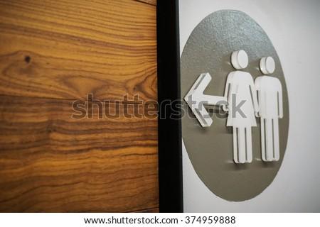 Unisex Bathroom Sign.