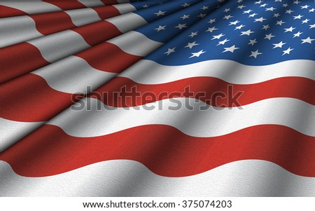 Background pattern of the flag of the United States. #375074203