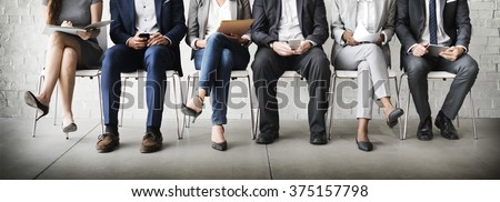Human Resources Interview Recruitment Job Concept Royalty-Free Stock Photo #375157798