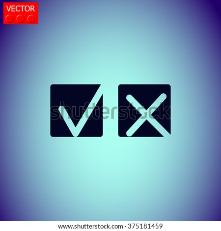 Yes or No icons vector. #375181459