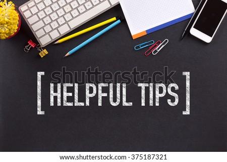 HELPFUL TIPS CONCEPT ON BLACKBOARD