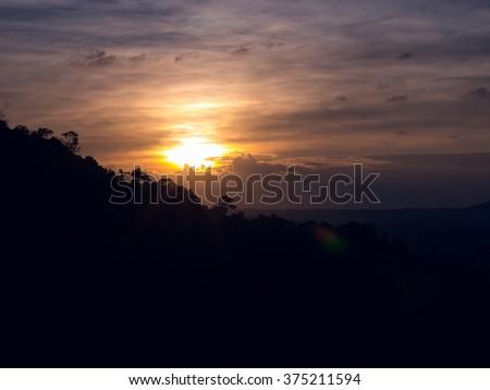 Sun set at Kao-Kor #375211594